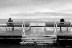 la mer était grise